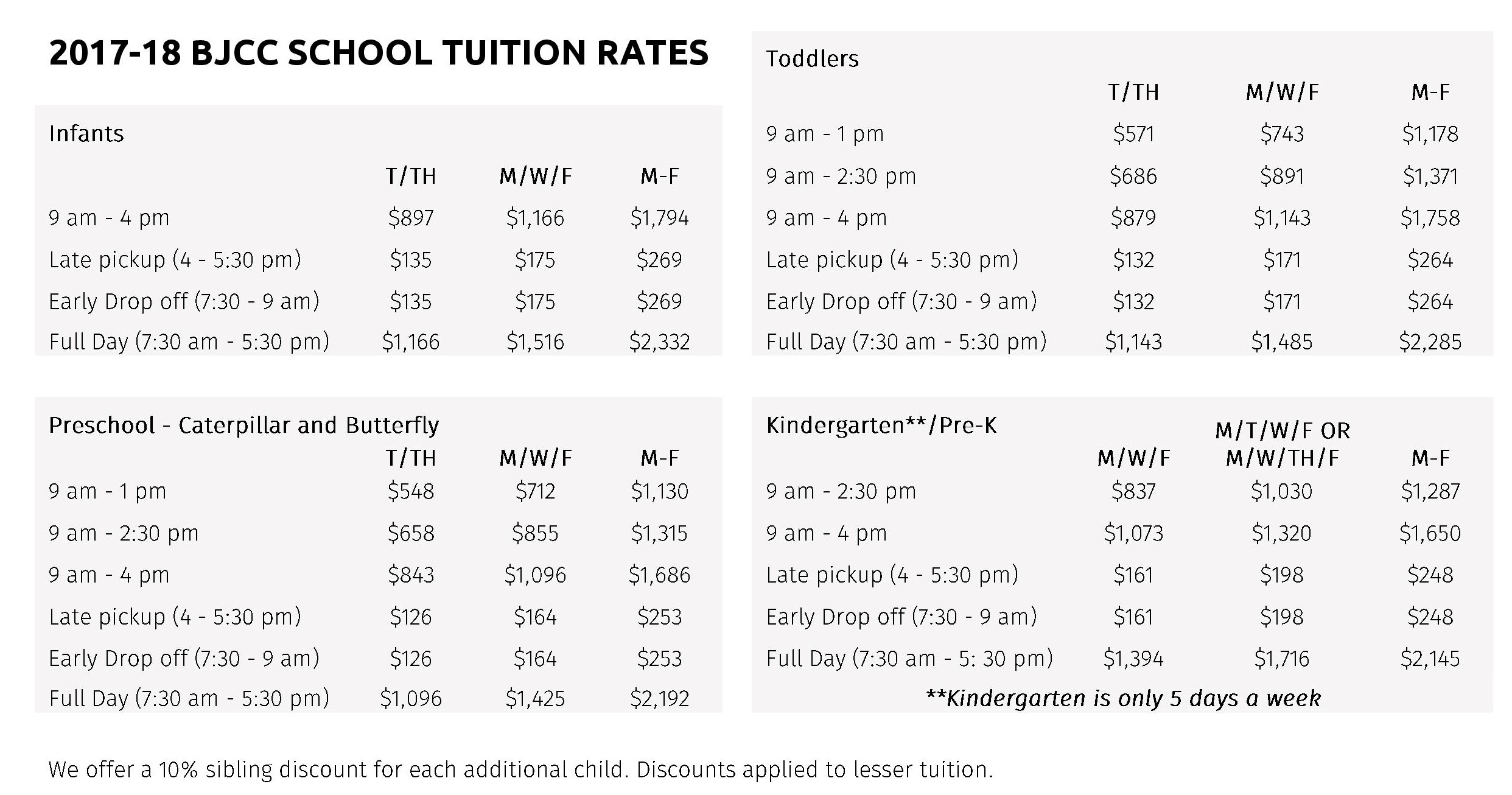 Tuition and Fees - Boulder JCC | Jewish Community Center